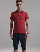 Mr D® Men's Shirt Collar Short Sleeve T Shirt Red / Green / Royal Blue-6776