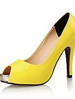 Mujer Sandalias Zapatos del club Sintético Cuero Patentado Verano Otoño Boda Vestido Fiesta y Noche Tacón Stiletto Negro Amarillo Almendra