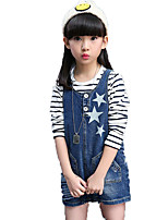 Girl's Casual/Daily Print Pants / Jeans,Cotton / Others Spring / Fall Blue