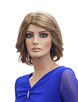 Blonde Color Short Wave Wigs Capless Synthetic Wigs For Women