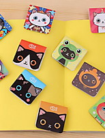 Japan And South Korea Creative Stationery 3 Cute Cat Mini Magnetic Bookmarks Bookends(Random Pattern)