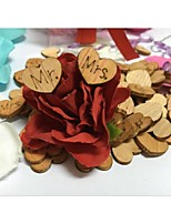 100PCS Mini MR MRS Wooden Rustic Wedding Table Confetti Gifts Decoration DIY Party Crafts