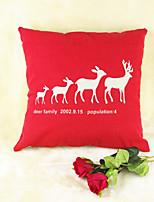 Red Elk Wildlife Print Cotton/Linen Pillow Cover