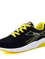 Men's Shoes Casual/Travel/Running Fashion Sneakers Tulle Leather Shoes Bule/Yellow