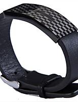 Pulseiras de couro 1pç,Moderno Forma Geométrica Prateado Aço Inoxidável / Pele Jóias Presentes