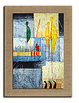 Oil Painting Modern Abstract People Hand Painted Natural Linen With Stretched Frame