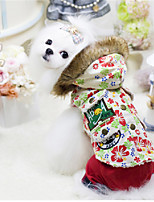 Dog Hoodie Red / White Winter / Spring/Fall Floral / Botanical Casual/Daily Dog Clothes / Dog Clothing-Other