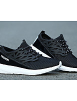 Women's Sneakers Spring / Fall Styles / Pointed Toe Fabric Outdoor / Athletic Flat Heel Lace-up Black / White / Gray Sneaker