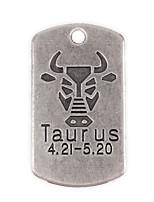 10pcs New Alloy Parts Twelve Constellation Taurus Square Accessories
