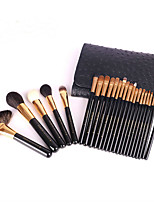 24 Makeup Brushes Set Goat Hair Professional / Full Coverage Wood