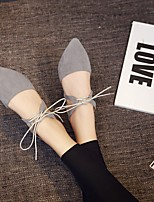 Women's Flats Spring / Summer / Fall Flats Cashmere Casual Flat Heel Bowknot Black / Gray Others