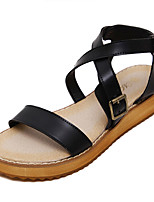 Women's Sandals Summer Sandals / Open Toe Leather Casual Platform Others Black / White Others