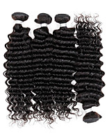 Brazilian Virgin Deep Wave Hair Weaving Natural Black 8-26 inches 3PCS/Lot 100g/pcs Raw Unprocessed Hair Weft