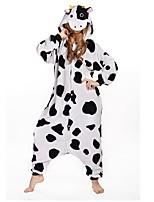 Kigurumi Pyjamas Collant/Combinaison Halloween Pyjamas animale Noir Géométrique Polyester Kigurumi Unisexe Halloween / Noël / Carnaval