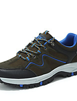 Men's Sneakers Spring / Fall Round Toe Tulle Athletic Flat Heel Others Blue / Brown Sneaker