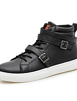Men's Sneakers Spring / Summer / Fall / Winter Comfort Leather Outdoor / Office & Career / Casual Flat Heel Black White