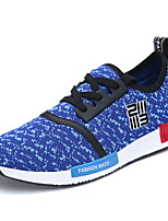 Men's Shoes Tulle Athletic Sneakers Athletic Sneaker Flat Heel Lace-up Black / Blue / Gray
