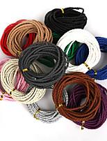 beadia 3mm round gevlochten pu lederen koord touw string voor diy sieraden ketting armband handvaardigheid (5mts)
