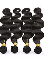 4 Peças Onda de Corpo Tramas de cabelo humano Cabelo Brasileiro Tramas de cabelo humano Onda de Corpo