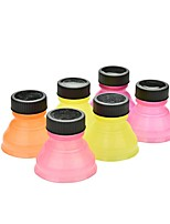 Set of 6 Creative Soda Savers Toppers Reusable Bottle Caps Can Convert(Ramdon Color)
