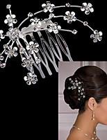 Vrouwen Licht Metaal Helm-Bruiloft / Speciale gelegenheden Haarkammen 1 Stuk Zilver