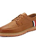 Men's Sneakers Spring / Fall Comfort / Round Toe PU Casual Flat Heel  Black / Brown / Beige Walking / Others
