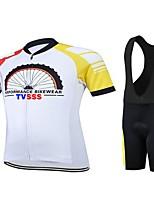 Sport Fahhrad/Radsport Kleidungs-Sets/Anzüge Unisex Kurze ÄrmelHohe Atmungsaktivität (>15,001g) / tragbar / Leichtes Material / 3D Pad /