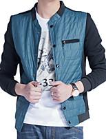 New winter jacket jacket coat male Korean male fashion men's jacket without collar stitching