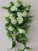 1 1 Ramo Poliéster / Plástico Rosas Guirlandas & Flor de Parede Flores artificiais 94.4inch/240cm