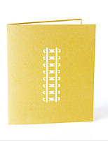 Non-personalized Folded Wedding Invitations Greeting Cards-1 Piece/Set Monogram Hard Card Paper Bows