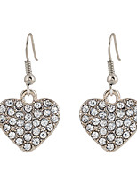 Fine Jewelry Fashion Charms Cute Peach Heart Rhinestone Earrings