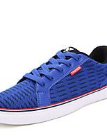 Men's Sneakers Spring / Fall Comfort PU Athletic Flat Heel Lace-up Black / Blue Sneaker