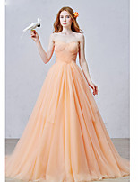 Formal Evening Dress Ball Gown Sweetheart Court Train Tulle with Pleats