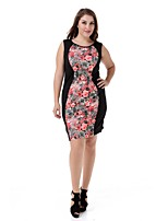 Women's Plus Size Party Dress Large Size Print Casual Club Dress Fashion Party Dress