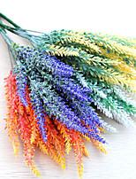 1 1 Ramo Poliéster / Plástico Lavanda Flor de Mesa Flores artificiais 13.7inch/35cm