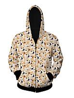 3D  Hoodie Long Sleeve Thickest Akita Dog Printing Clothing