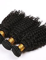 3 Peças Encaracolado Tramas de cabelo humano Cabelo Brasileiro Tramas de cabelo humano Encaracolado