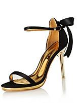 Women's Shoes Silk Heels / Sandals Wedding / Party & Evening / Dress Stiletto Heel Bowknot / Satin Flower