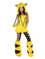 Costumes Déguisements d'animaux / Bunny girl Halloween / Noël / Carnaval Jaune Vintage Térylène Haut / Jupe / Chaussettes / Chapeau