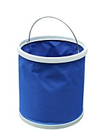 ZIQIAO Multi Function Foldable Water Bucket Hanger Car Washing Camping Bucket Folding(Random Colors)