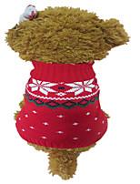 Cani Maglioni-Inverno-Natale Fiocco di neve-Rosso / Blu- diAcrilico