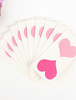 100% virgin pulp 50pcs Double Heart Wedding Napkins