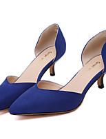 Damen-High Heels-Büro / Kleid / Lässig / Party & Festivität-Vlies-Niedriger Absatz-Stile / Spitzschuh-Schwarz / Blau / Mandelfarben