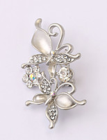 European and American fashion zircon Pearl Brooch Series 028