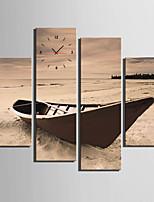 Moderno/Contemporaneo Altro Orologio da parete,Rettangolare Tela 30x 60cm(12inchx24inch)x2pcs+03 x 90cm(12inchx35inch)x2pcs Al Coperto