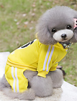 Perros Saco y Capucha / Ropa / Ropa Rojo / Negro / Azul / Amarillo Invierno Caricaturas Deportes, Dog Clothes / Dog Clothing-Other