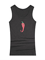 Men's Print Casual / Work / Sport Tank Tops  Round Neck Sleeveless Printing Sport Vest