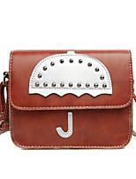 Women PU Casual Umbrella Printing Rectangle Shopping Shoulder  Coin Purse Mobile Phone Bag