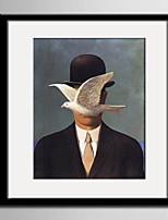 E-HOME® Framed Canvas Art, White Dove And Gentlemen Framed Canvas Print One Pcs
