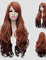 Long curly hair and Brown Gradient hot new fashion, partial hair lady wig.